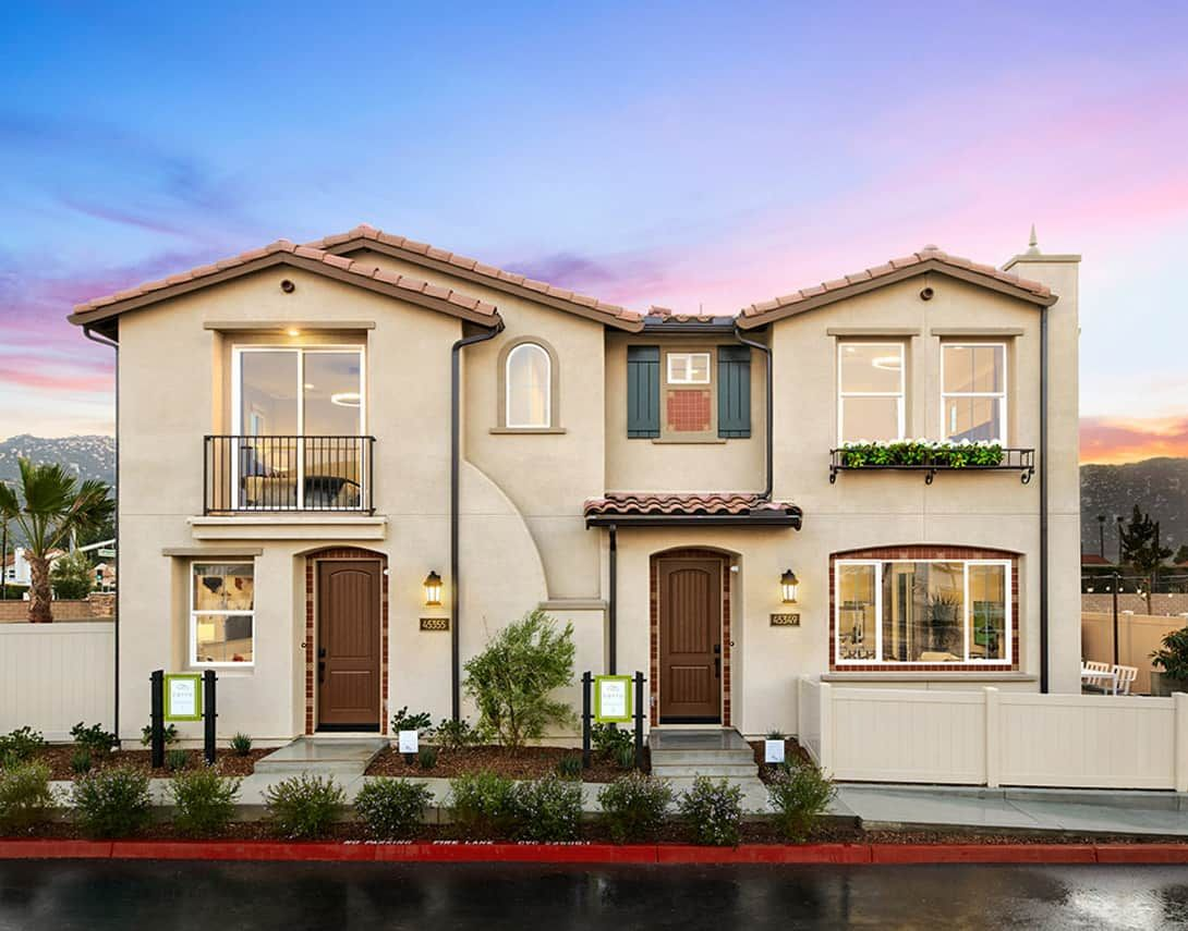 Cerro At Rancho Soleo - Duplex Model Home - Spanis:Cerro At Rancho Soleo - Duplex Model Home - Spanish Exterior Style