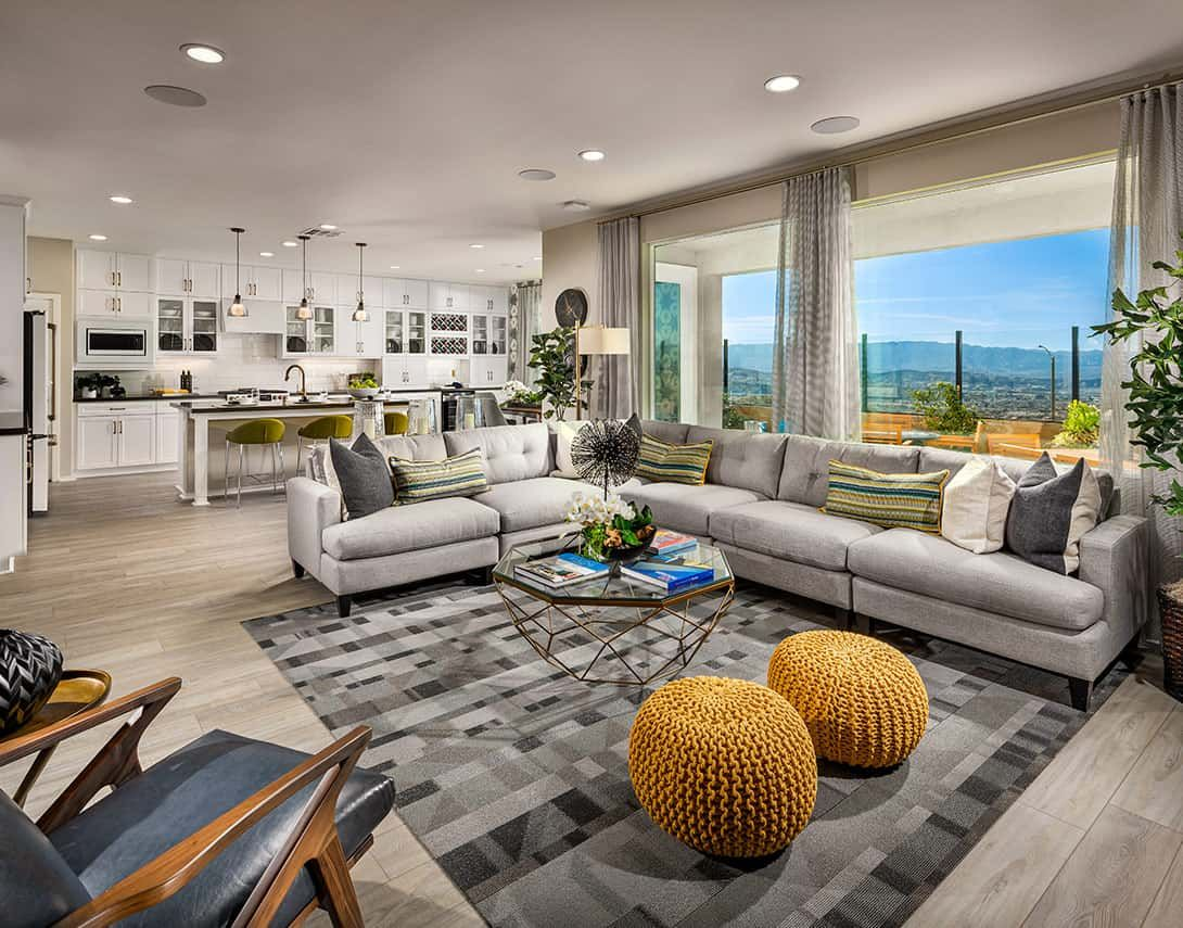 Living Area featured in the Sola Plan 4 Model Home By Tri Pointe Homes in Los Angeles, CA
