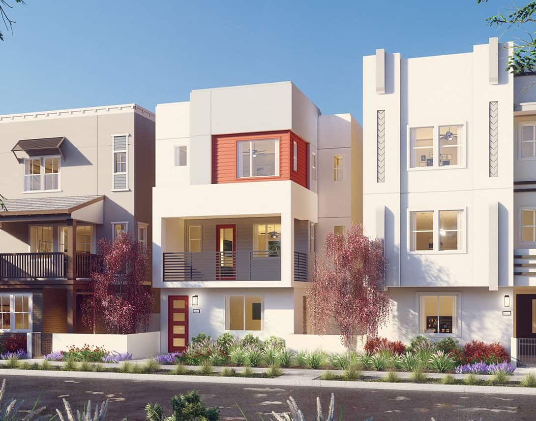 Contemporary Exterior Style:Tempo At The Resort Plan 1A Rendering