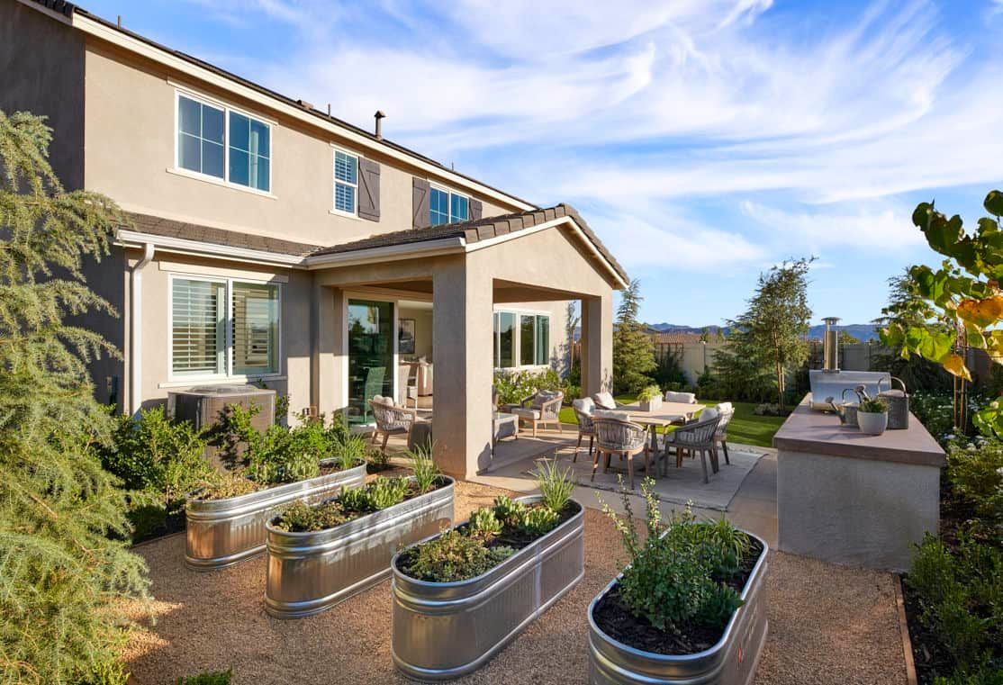 Exterior featured in the Plan 3 By Tri Pointe Homes in Riverside-San Bernardino, CA