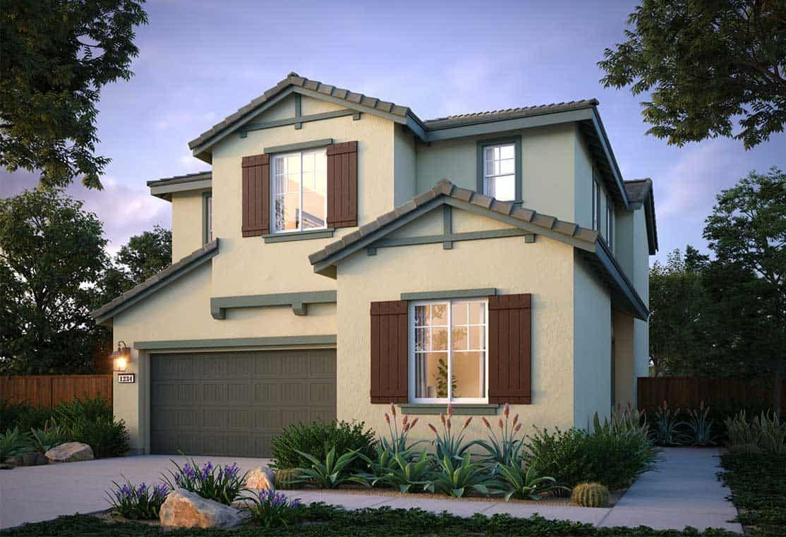 Exterior featured in the Plan 3 By Tri Pointe Homes in Vallejo-Napa, CA