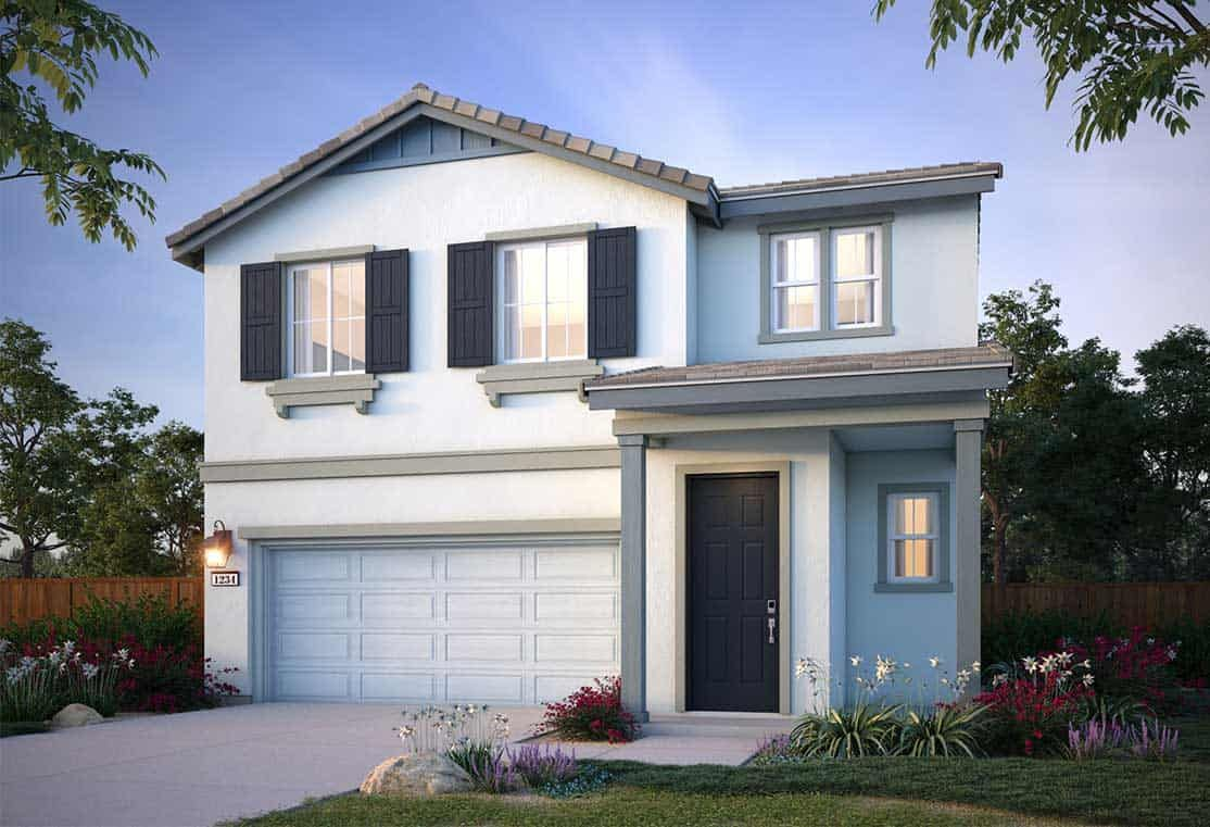 Exterior featured in the Plan 4 By Tri Pointe Homes in Vallejo-Napa, CA