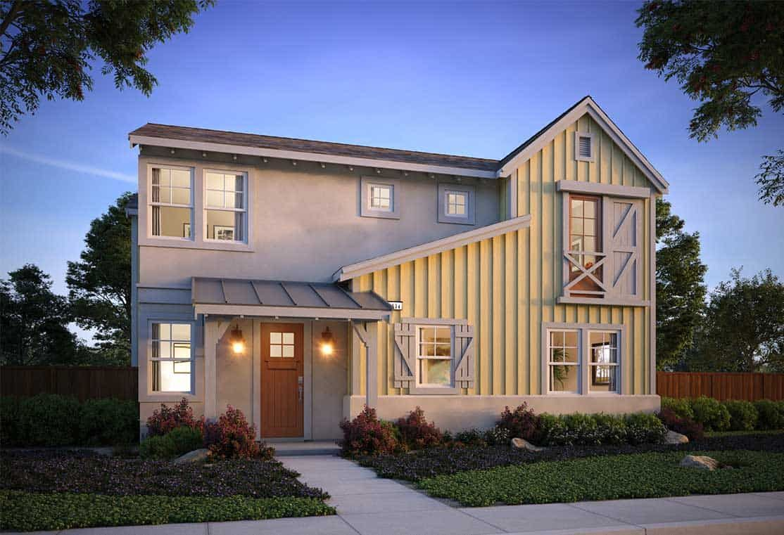 Exterior featured in the Plan 4 By Tri Pointe Homes in Santa Rosa, CA