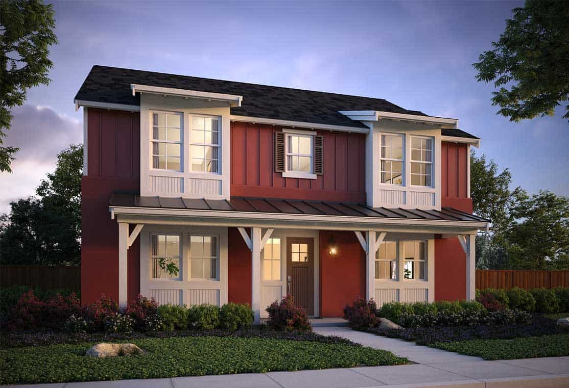 Exterior featured in the Plan 3 By Tri Pointe Homes in Santa Rosa, CA