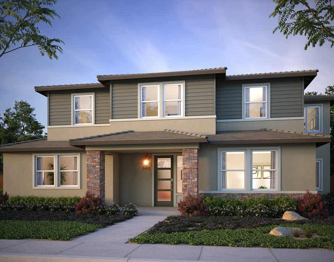 Exterior featured in the Plan 2X By Tri Pointe Homes in Vallejo-Napa, CA