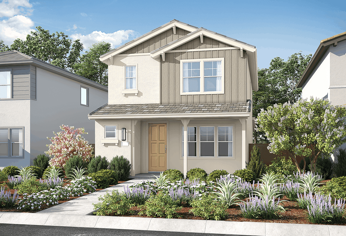 Exterior featured in the Plan 1 By Tri Pointe Homes in Sacramento, CA