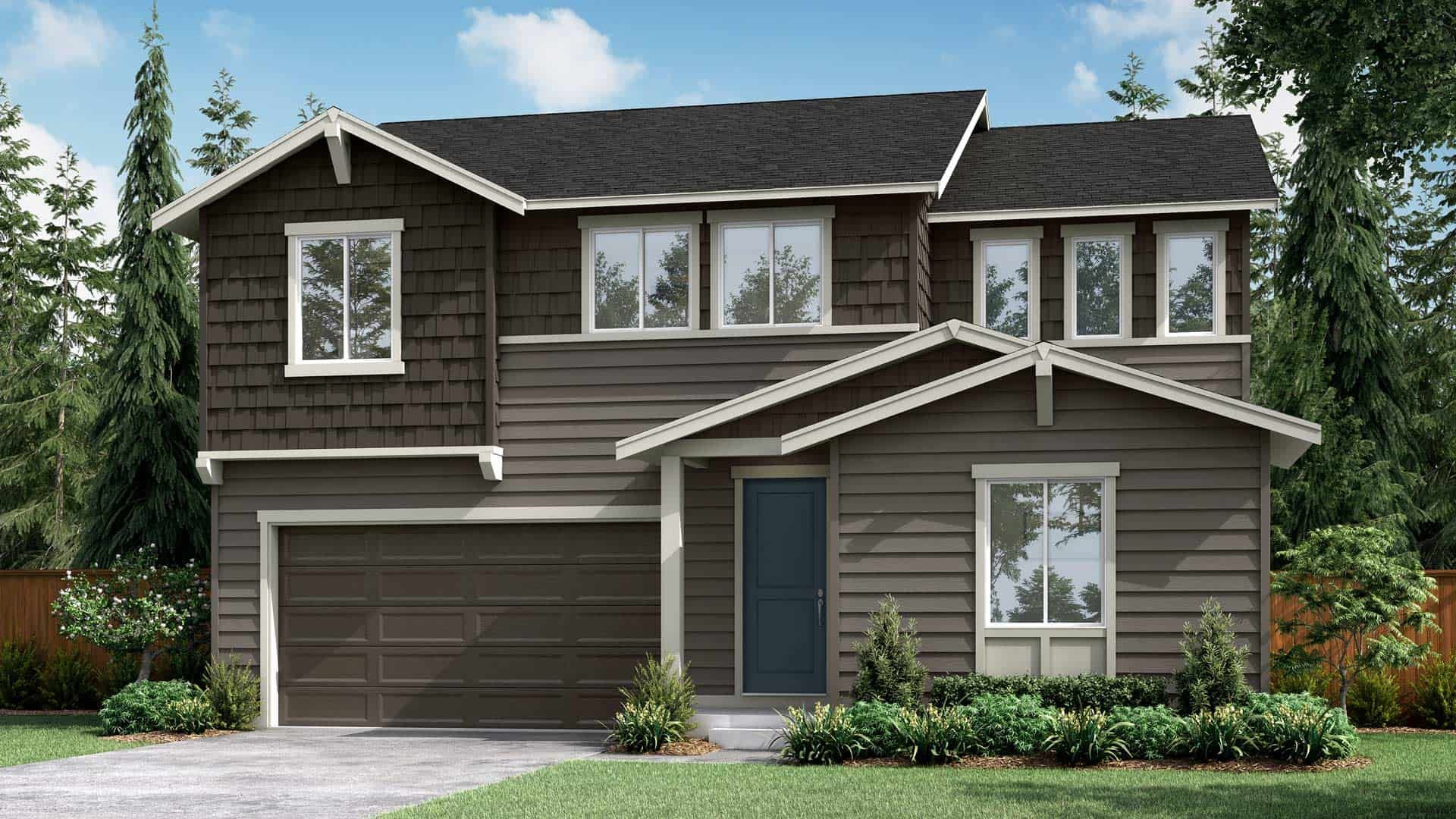 Exterior featured in the Plan A-280 By Tri Pointe Homes in Bremerton, WA