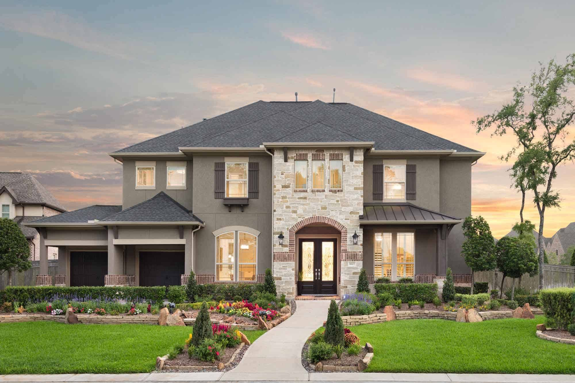 Exterior featured in the Lucca By Tri Pointe Homes in Houston, TX