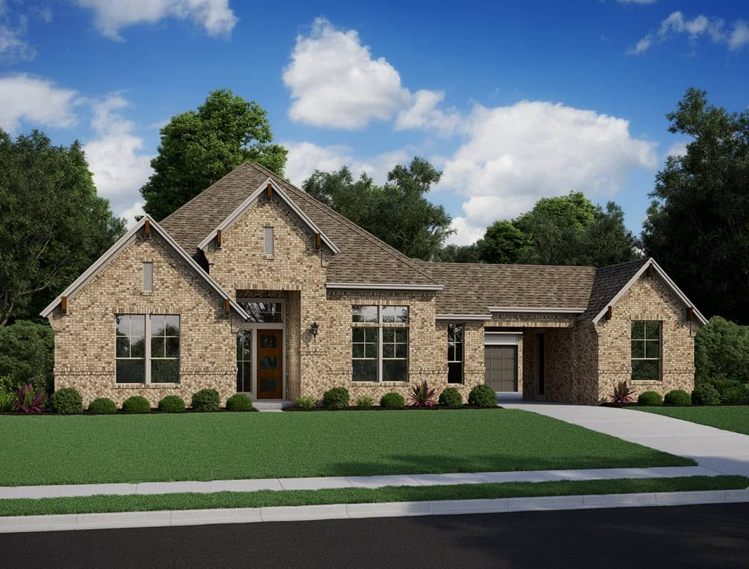 Exterior featured in the Carignan By Tri Pointe Homes in Houston, TX