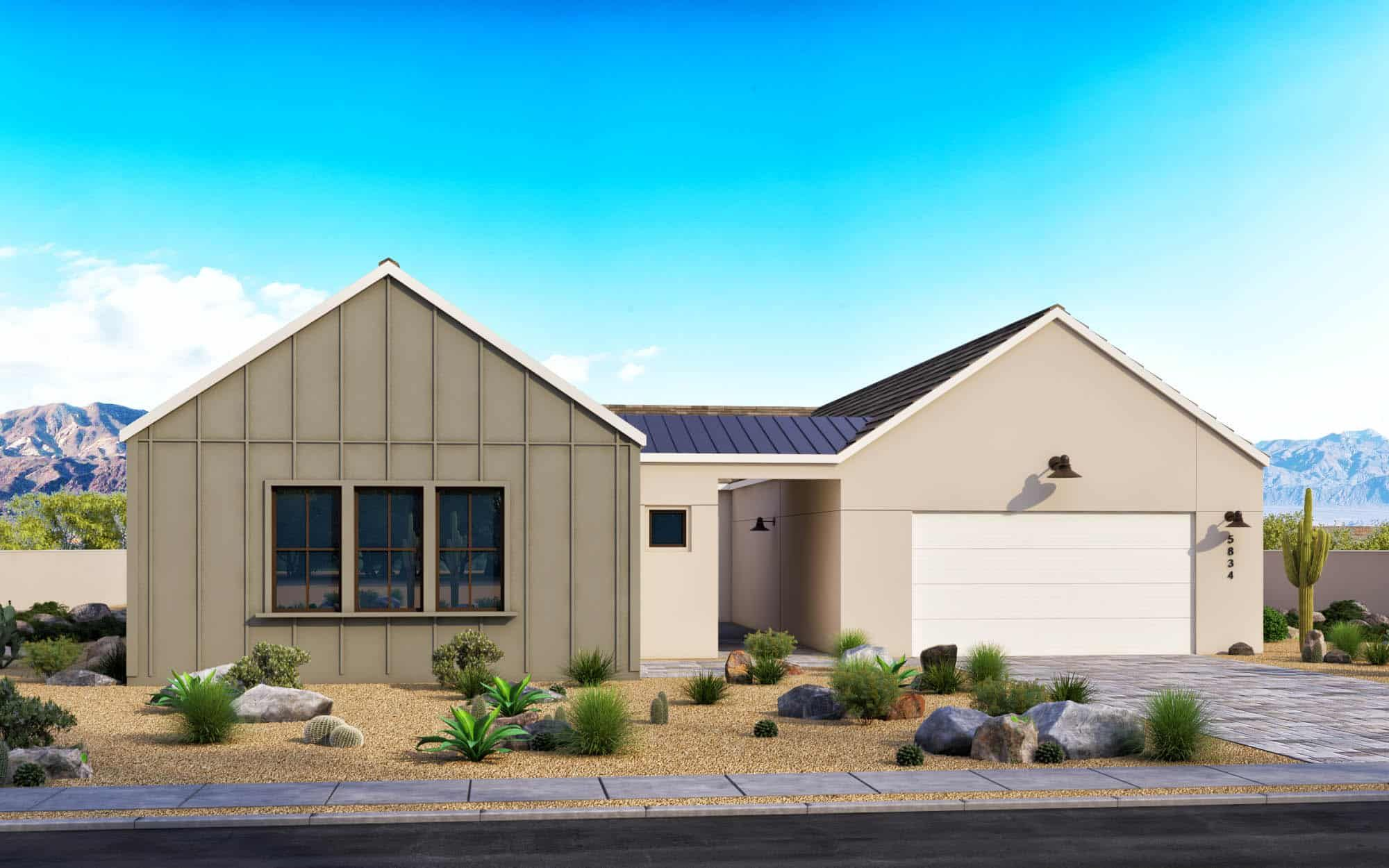 Exterior featured in the Piedmont Plan 3 By Tri Pointe Homes in Phoenix-Mesa, AZ