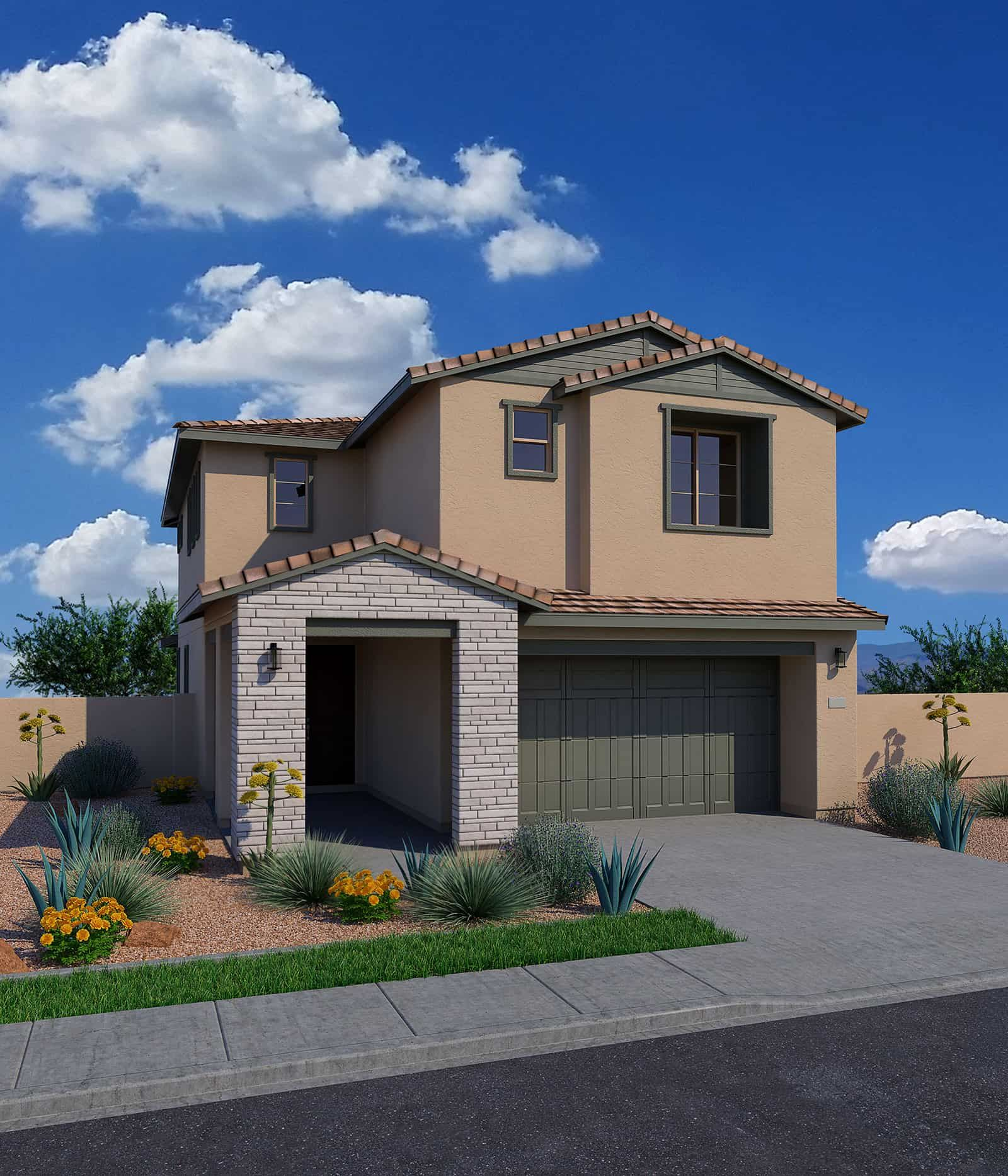 Exterior featured in the Orchard By Tri Pointe Homes in Phoenix-Mesa, AZ