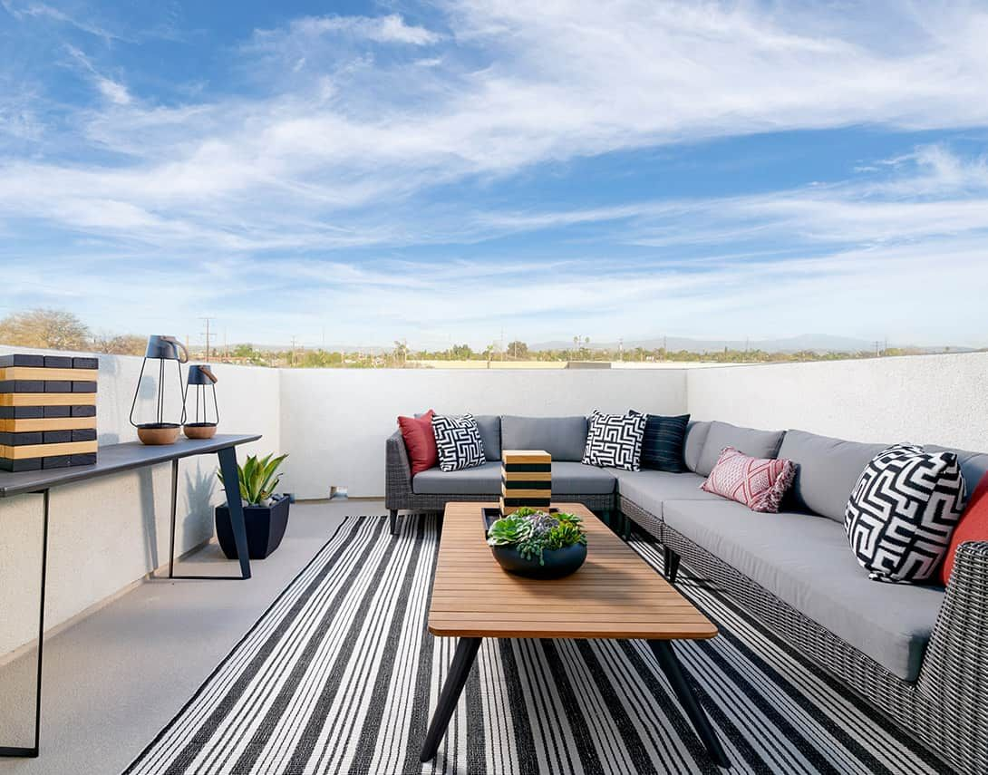Cerise At Canvas Plan 3 Model Home Roof Deck
