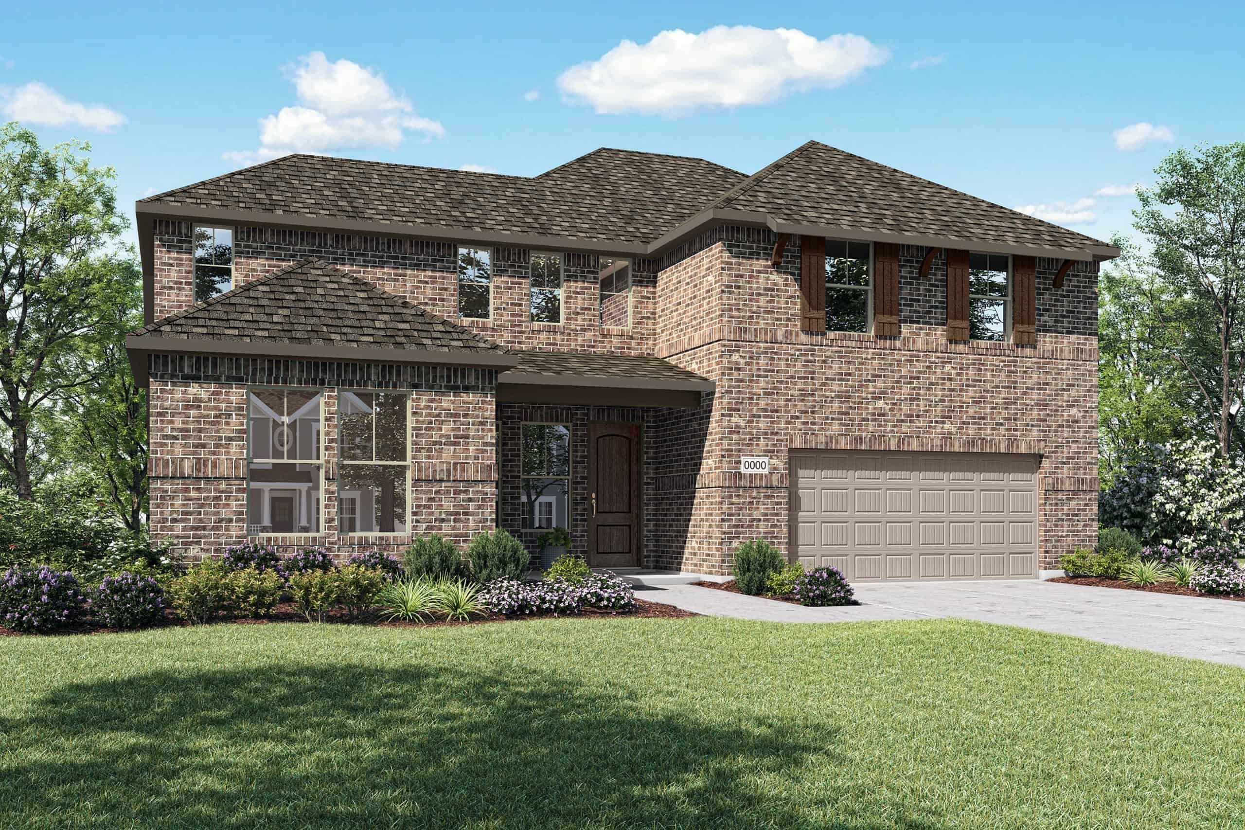 Exterior featured in the Dylan By Tri Pointe Homes in Fort Worth, TX
