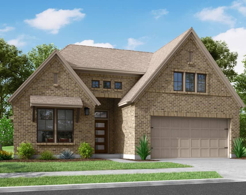 Exterior featured in the Harrier By Tri Pointe Homes in Houston, TX