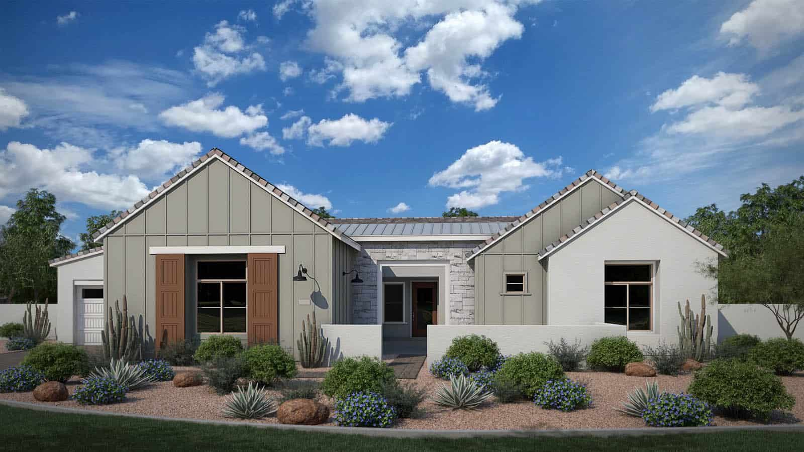 Exterior featured in the Acacia By Tri Pointe Homes in Phoenix-Mesa, AZ