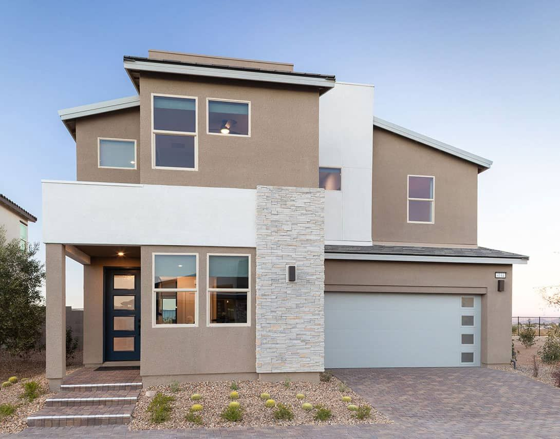Exterior featured in the Plan 4 By Tri Pointe Homes in Las Vegas, NV