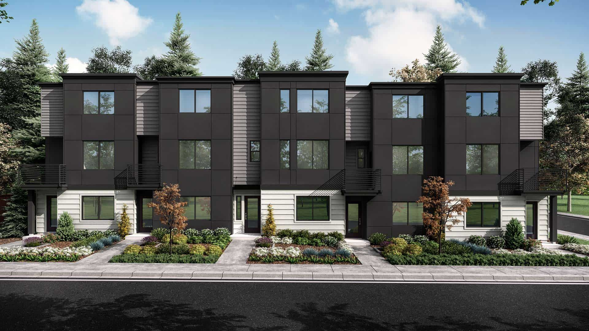 Exterior featured in the Plan 183A By Tri Pointe Homes in Seattle-Bellevue, WA