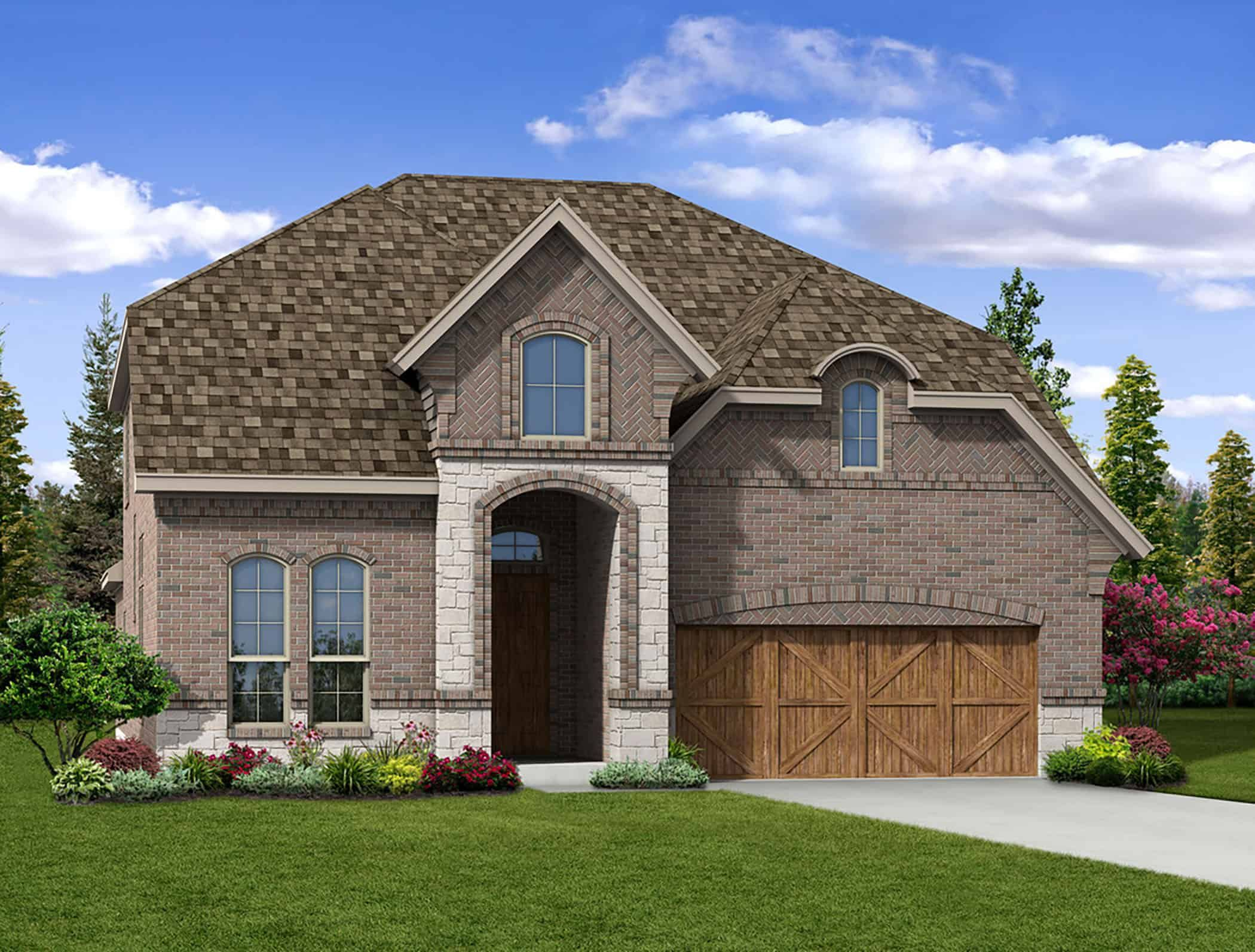 Exterior featured in the Kinsley By Tri Pointe Homes in Fort Worth, TX