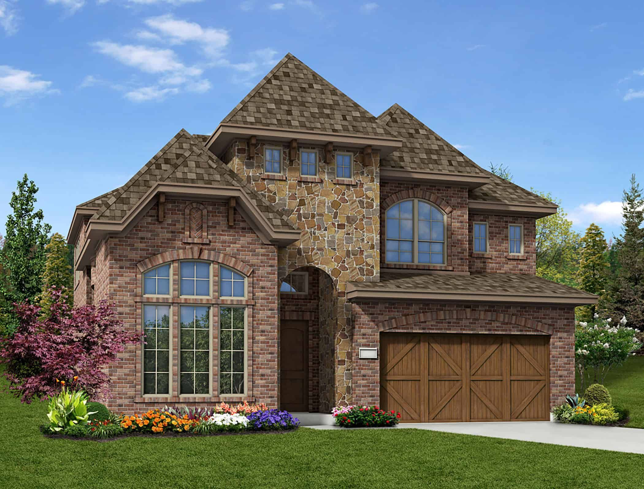 Exterior featured in the Annabelle By Tri Pointe Homes in Fort Worth, TX