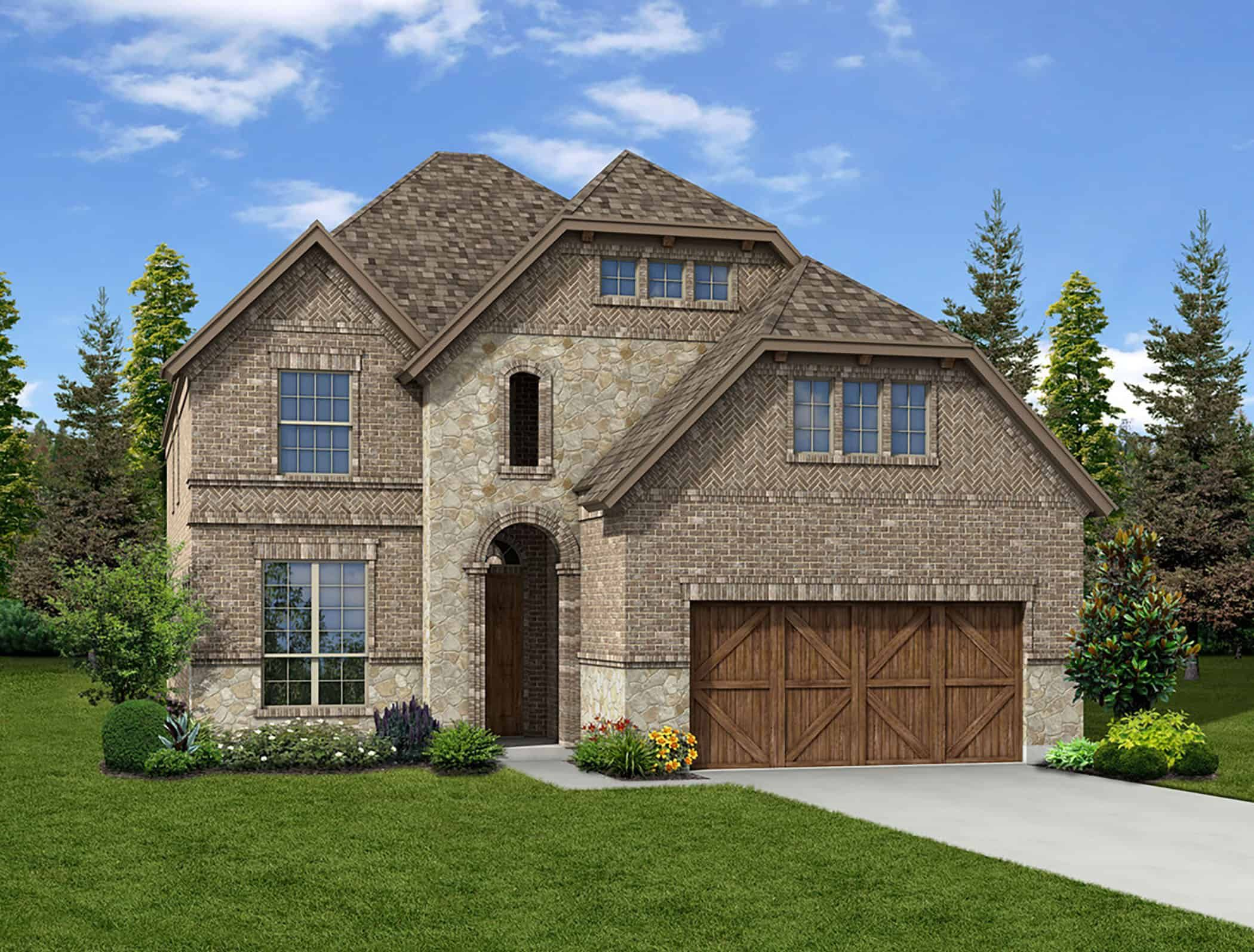 Exterior featured in the Camelot By Tri Pointe Homes in Fort Worth, TX