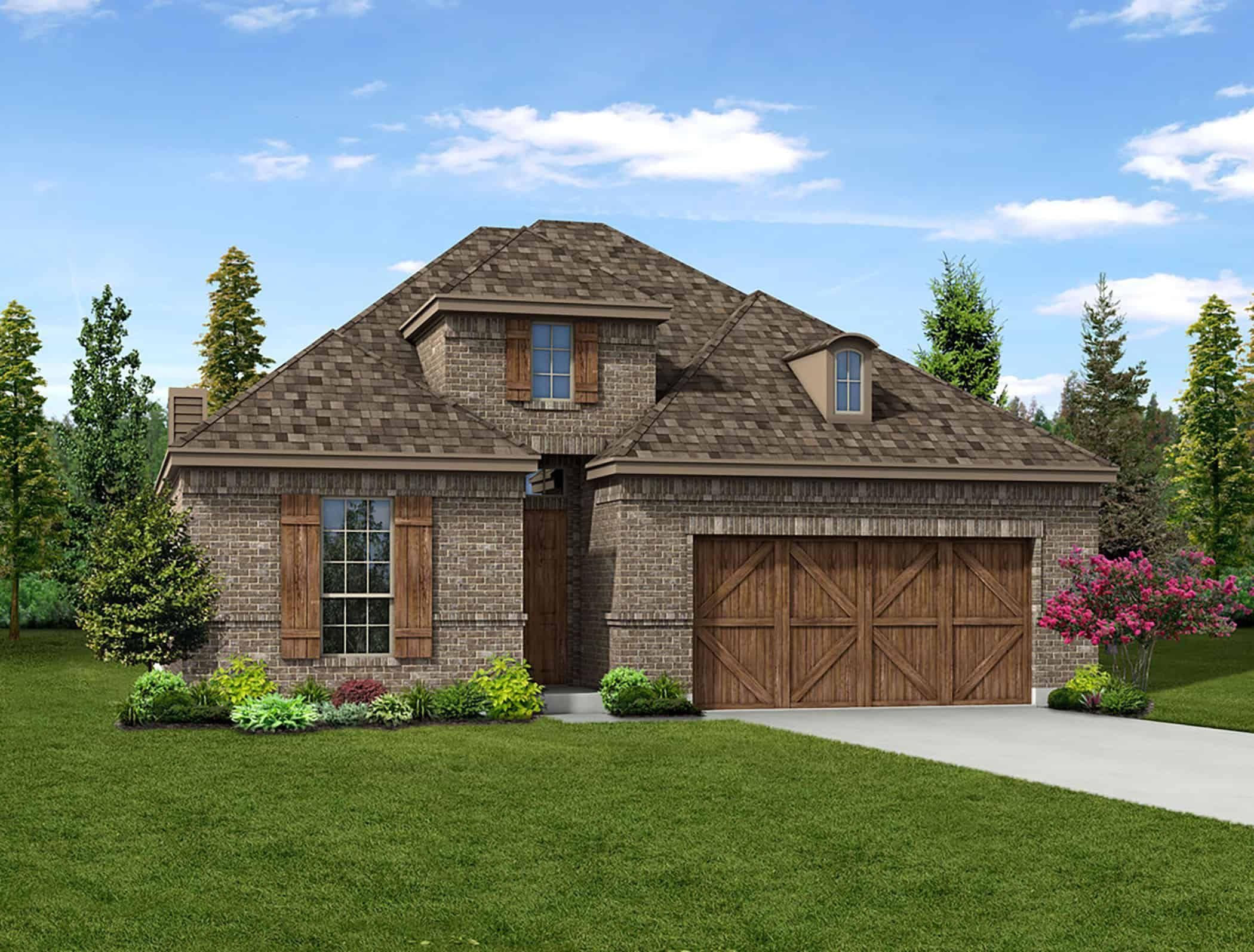 Exterior featured in the Addison II By Tri Pointe Homes in Fort Worth, TX