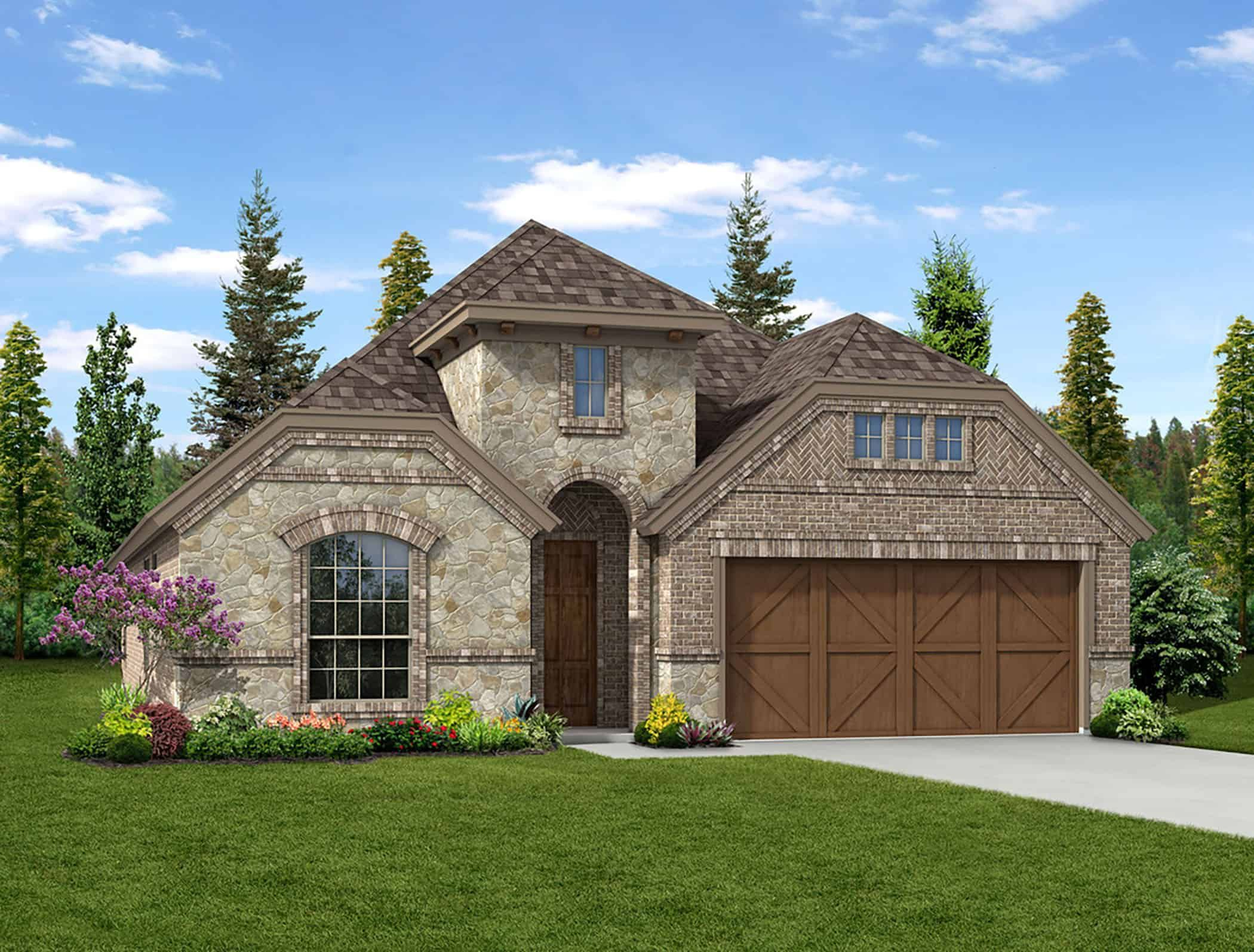 Exterior featured in the Kensington By Tri Pointe Homes in Fort Worth, TX