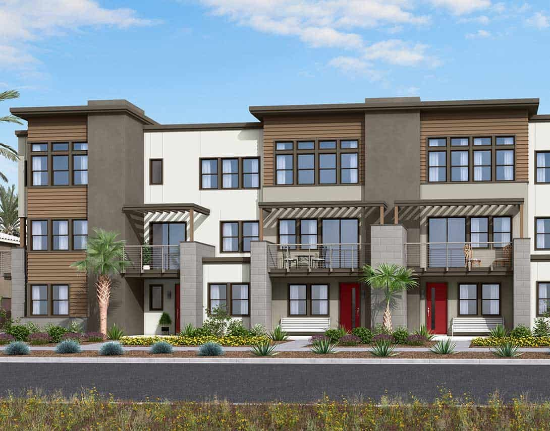 Exterior featured in the ParkerOne Plan 1 By Tri Pointe Homes in Orange County, CA
