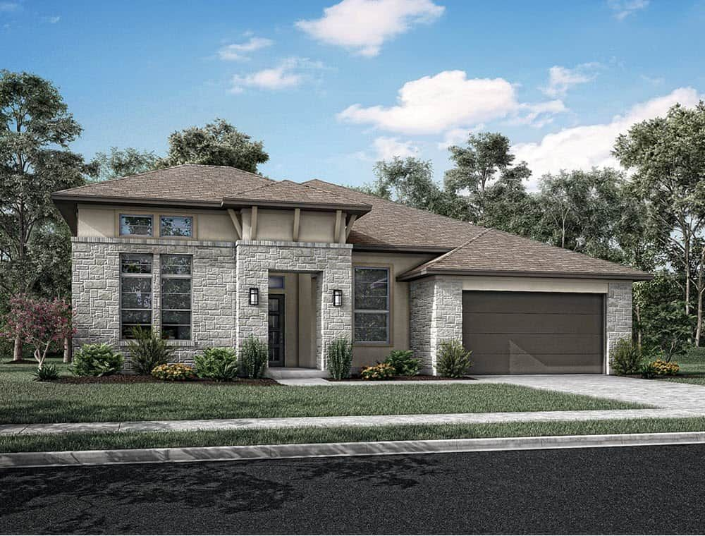 Exterior featured in the Albion By Tri Pointe Homes in Houston, TX