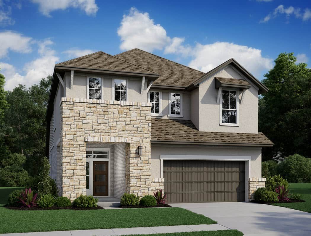 Exterior featured in the Longspur By Tri Pointe Homes in Houston, TX