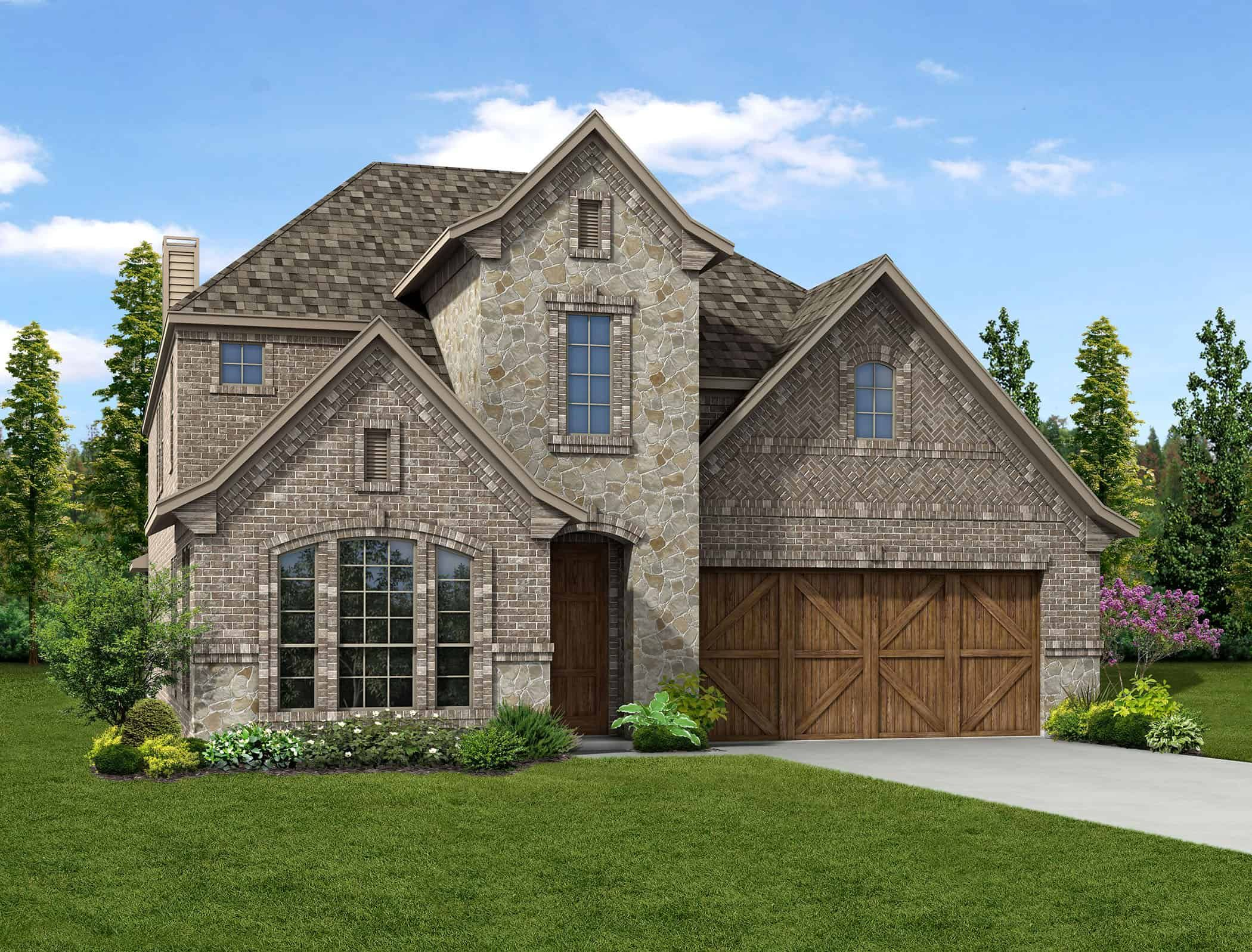 Exterior featured in the Summer By Tri Pointe Homes in Fort Worth, TX