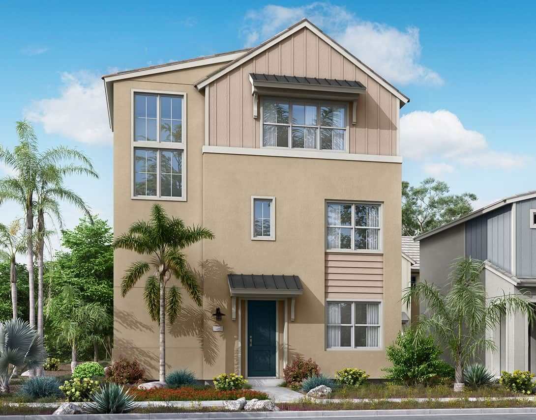 Exterior featured in the Delia Plan 3X By Tri Pointe Homes in Riverside-San Bernardino, CA