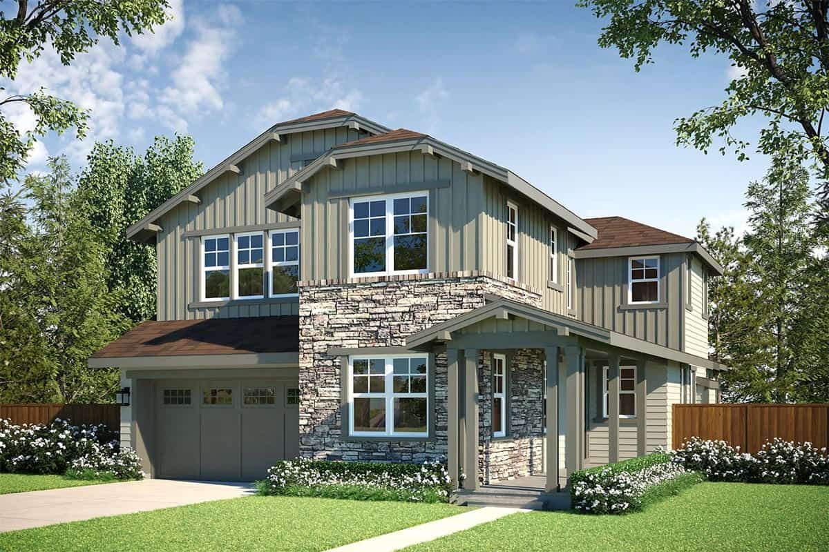 Exterior featured in the Plan M-260 By Tri Pointe Homes in Seattle-Bellevue, WA