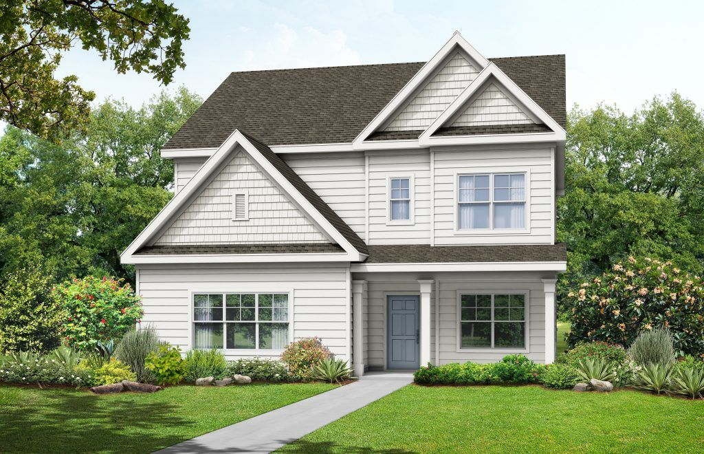 Exterior featured in the Heatherland Homes  The Marion By Heatherland Homes in Atlanta, GA