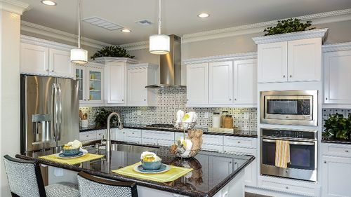 Kitchen-in-Turquoise-at-Eastmark Endeavor Collection-in-Mesa