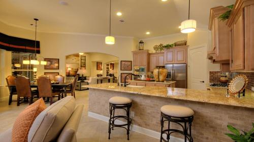 Kitchen-in-Aurora-at-Bonterra at Woodforest-in-Montgomery