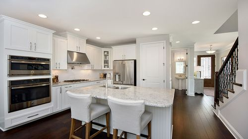 Kitchen-in-Siena-at-Preserve at White Oak Luxury Townhome Collection-in-Apex