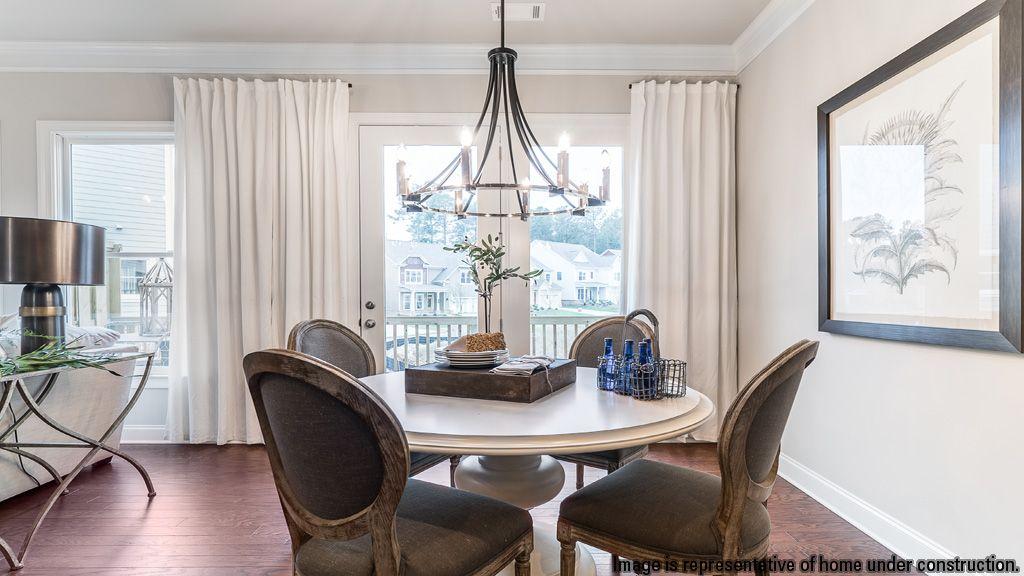 Breakfast-Room-in-Buckingham Townhome-at-Suwanee Green-in-Suwanee