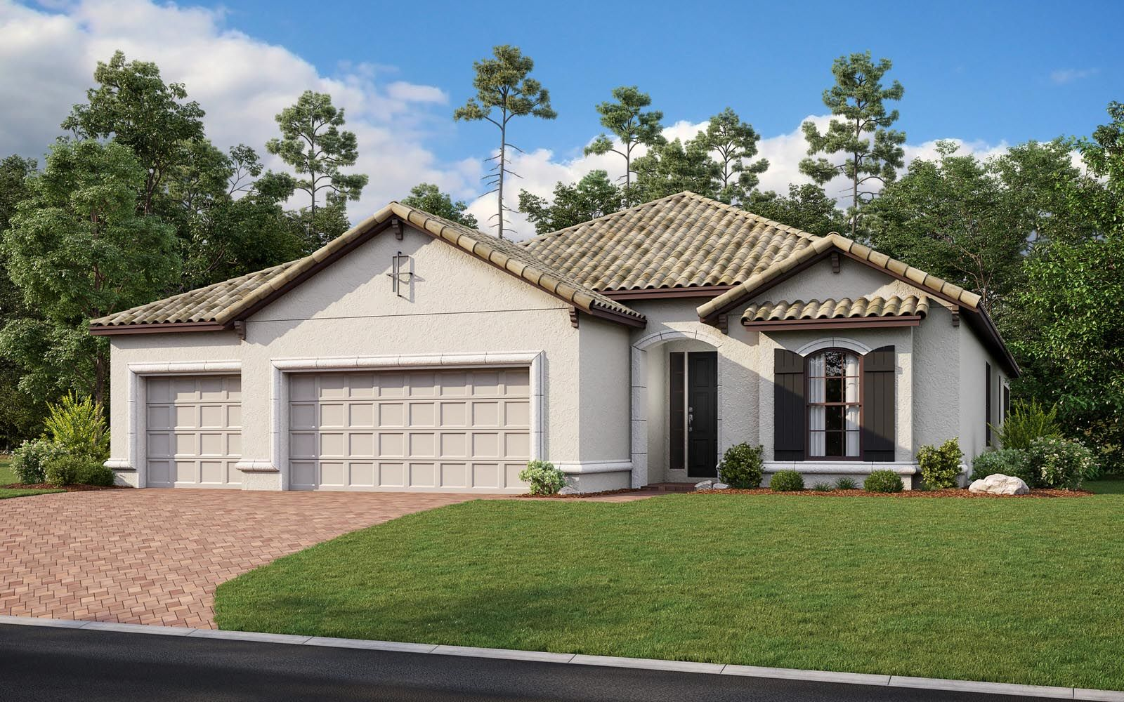 Exterior featured in the Lazio 3 car Plan By Taylor Morrison in Naples, FL
