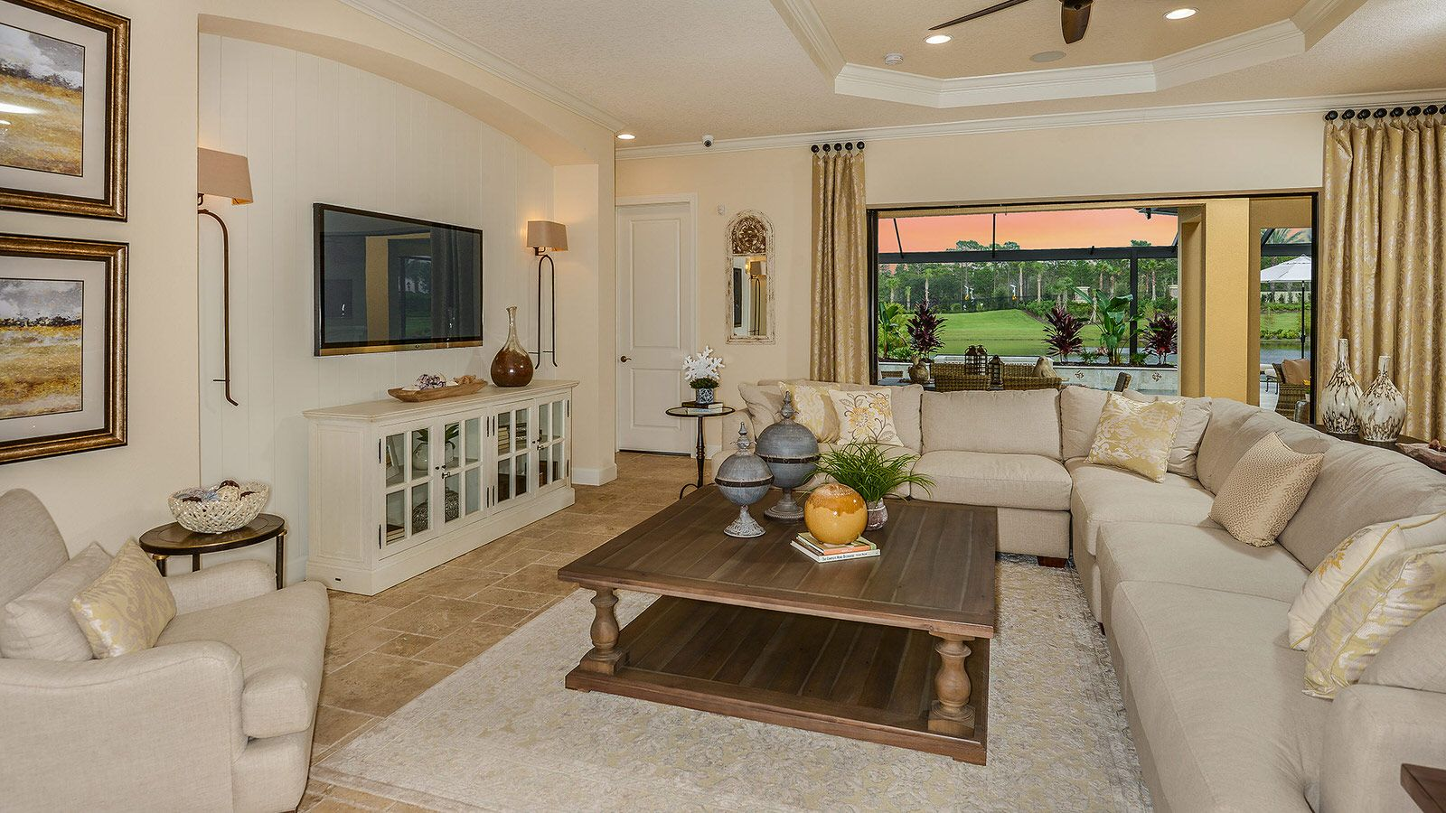 Living Area featured in the Pallazio Plan By Taylor Morrison in Tampa-St. Petersburg, FL