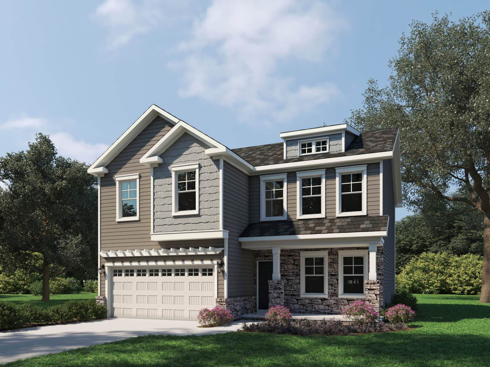 Exterior featured in the Sydney By Taylor Morrison in Raleigh-Durham-Chapel Hill, NC