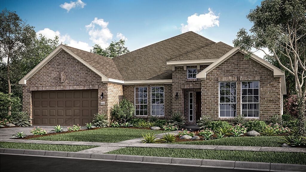 Exterior featured in the Pewter Model Plan By Taylor Morrison in Dallas, TX