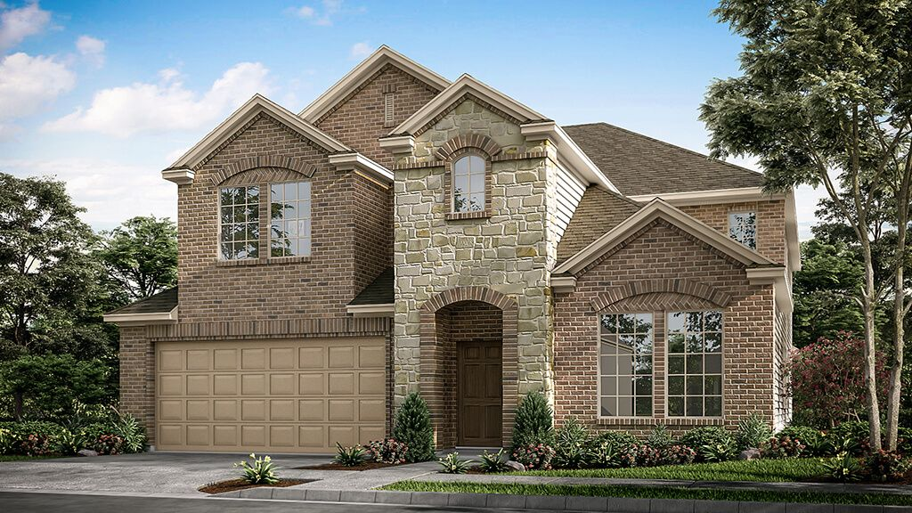 Exterior featured in the Bordeaux Plan By Taylor Morrison in Dallas, TX