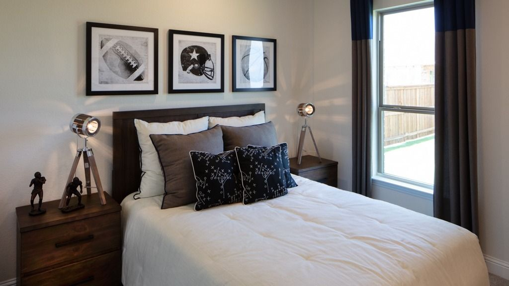 Bedroom featured in the Pewter Model Plan By Taylor Morrison in Dallas, TX