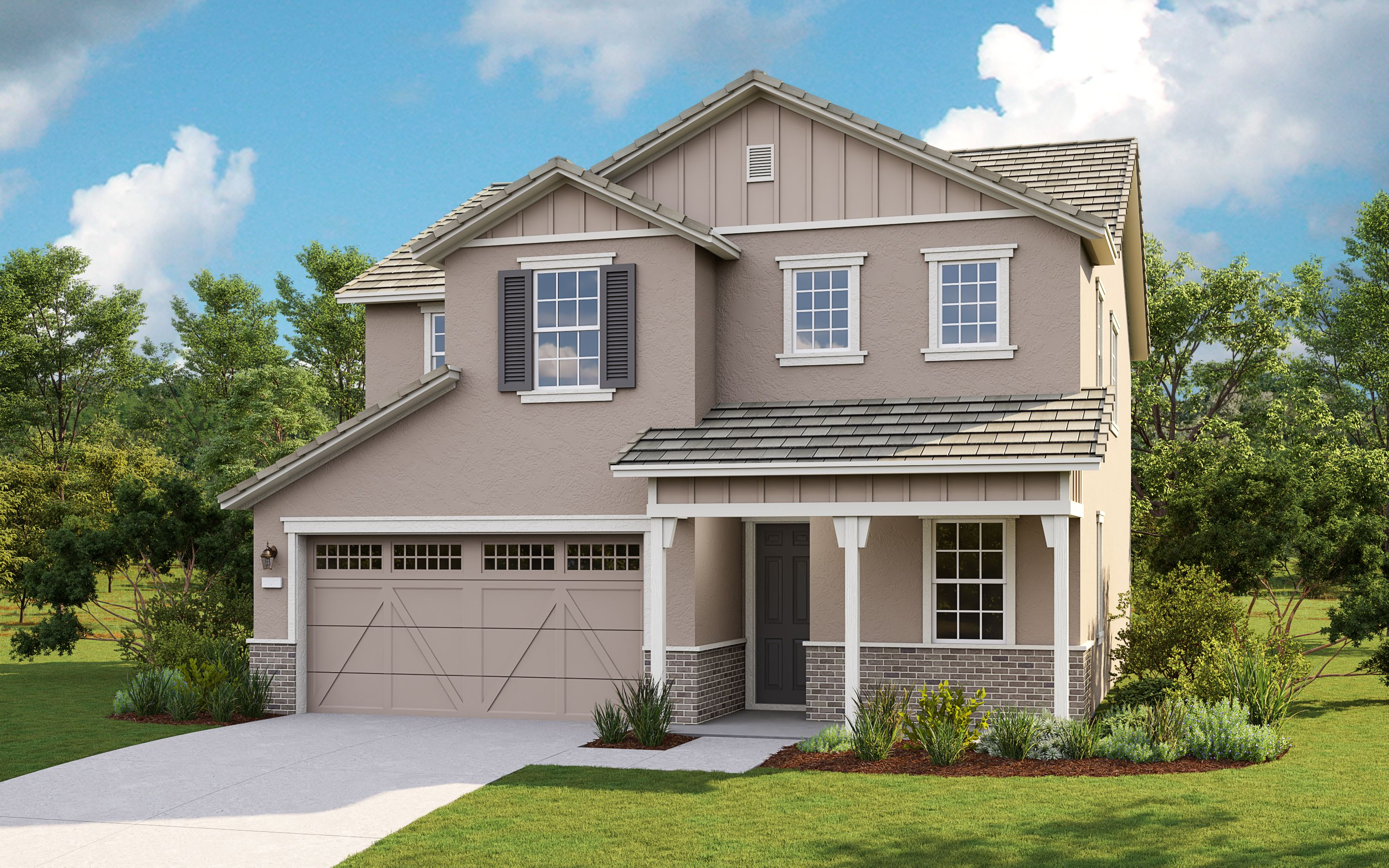 Exterior featured in the Plan 10 Sapphire By Taylor Morrison in Sacramento, CA