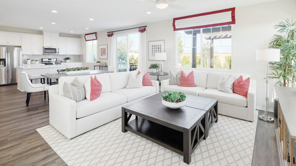 Living Area featured in the Hartford Plan 1B Lot 57 1722sqft By Taylor Morrison