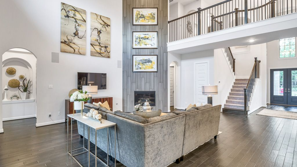 Living Area featured in the Salerno Plan By Taylor Morrison in Houston, TX