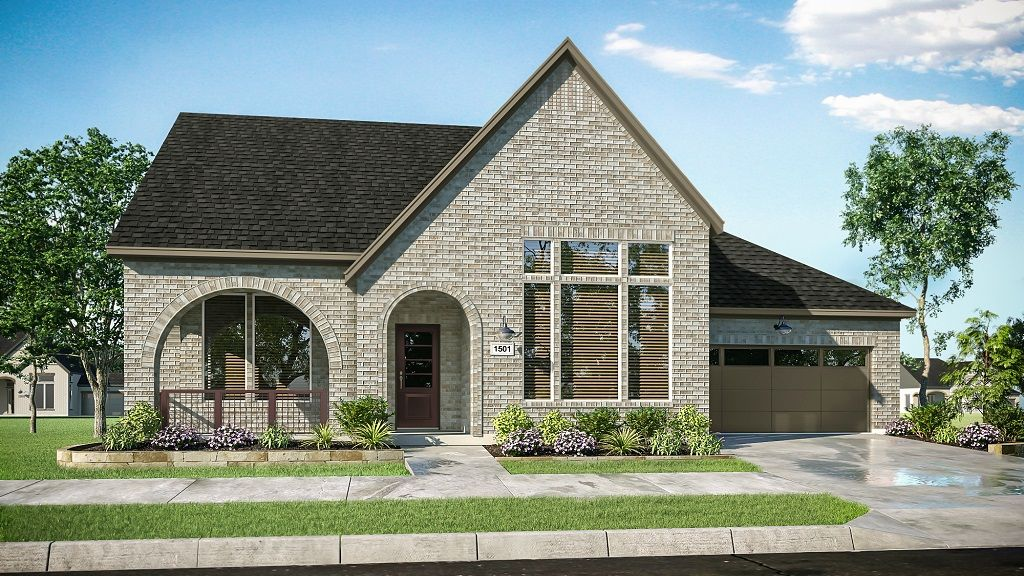Exterior featured in the 1501 By Darling  Homes in Houston, TX