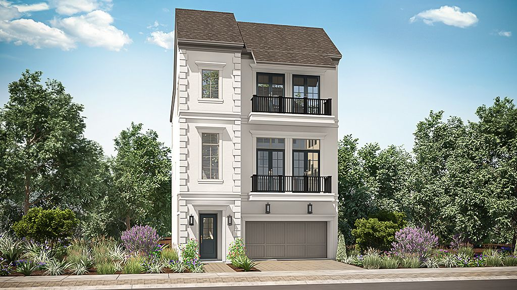 Exterior featured in the 1351 - 3 Story By Darling  Homes in Houston, TX