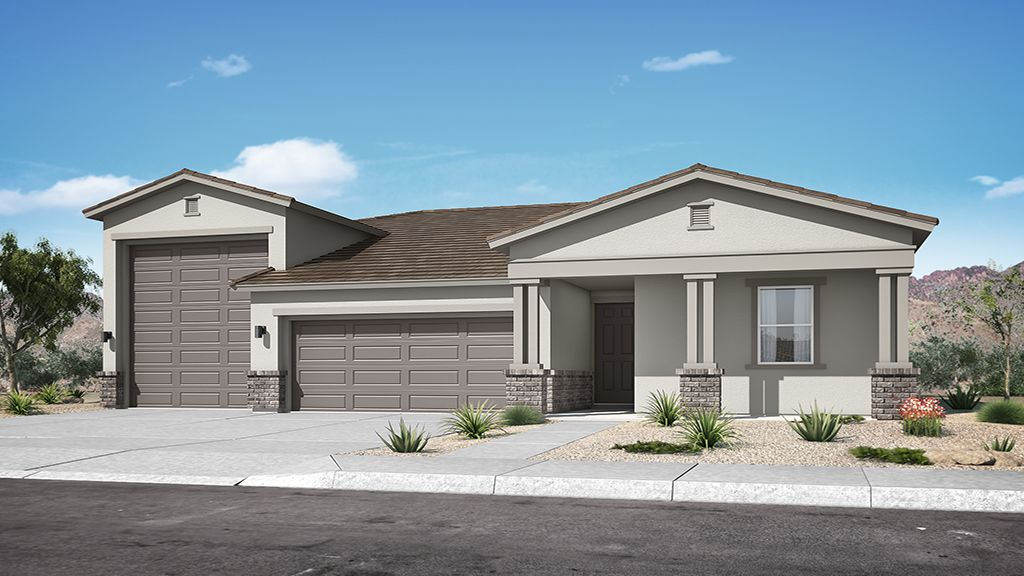 Exterior featured in the Plan 55-RMRV2 By Taylor Morrison in Phoenix-Mesa, AZ