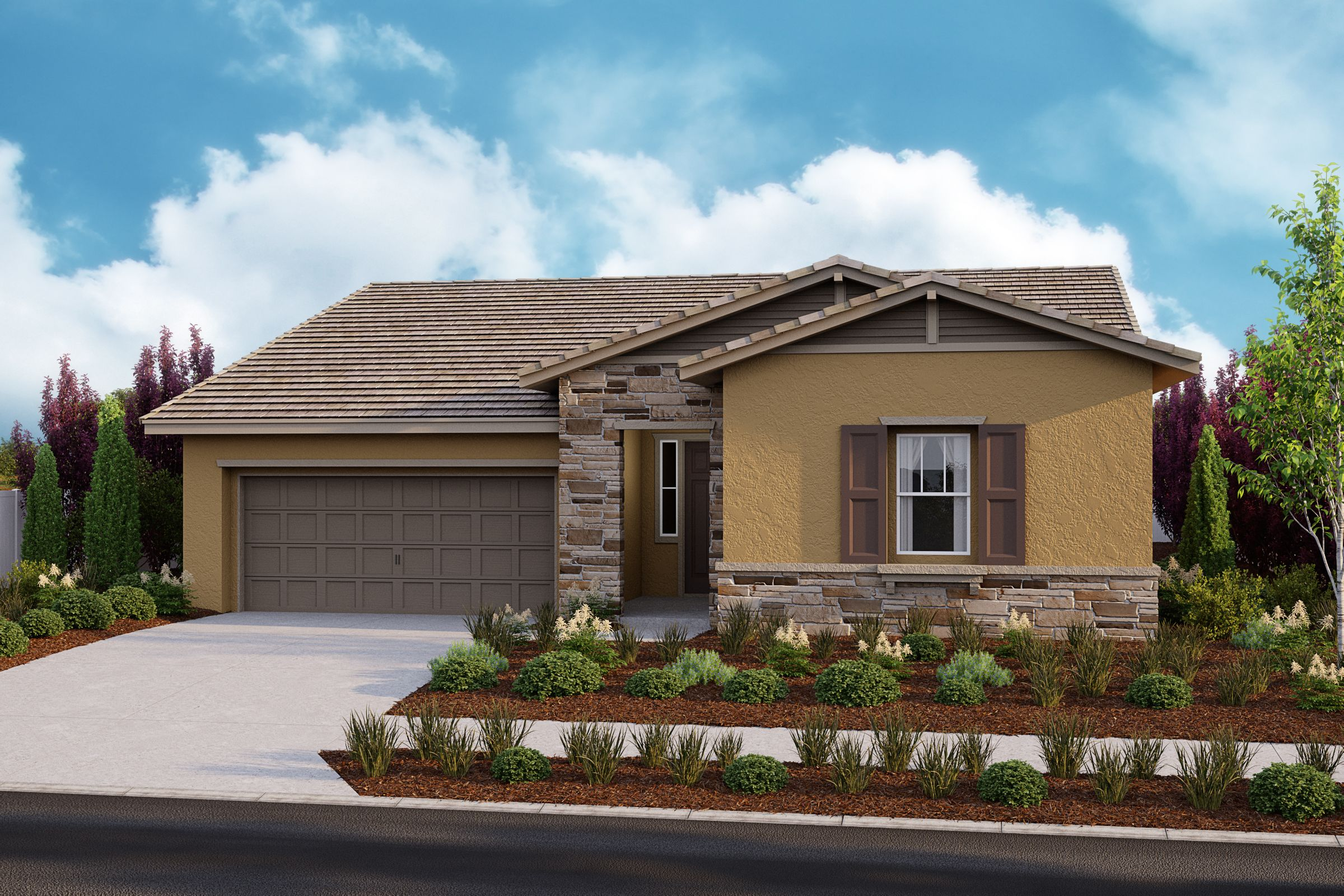 Exterior featured in the Residence 1 Sungold Plan By Taylor Morrison in Stockton-Lodi, CA